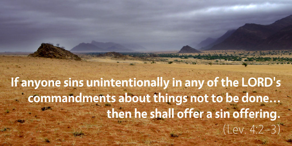 Leviticus 4: If anyone sins unintentionally in any of the Lord's commandments