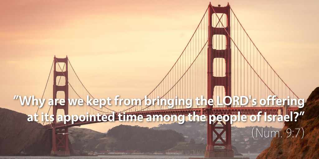 Numbers 9: Why are we kept from bringing the LORD's offering at its appointed time among the people of Israel?