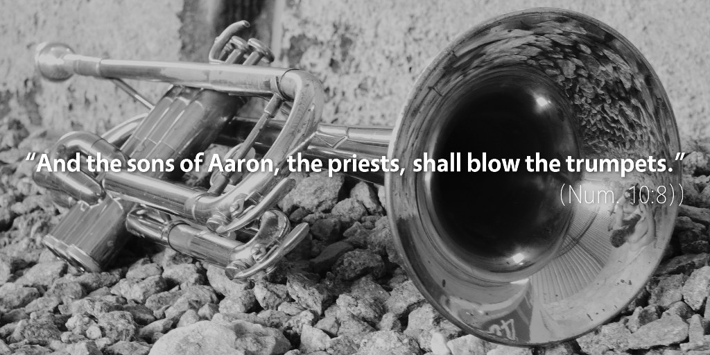 Numbers 10: And the sons of Aaron, the priests, shall blow the trumpets.