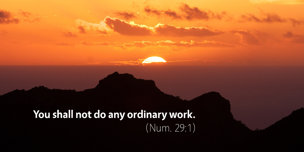 Numbers 29: You shall not do any ordinary work.