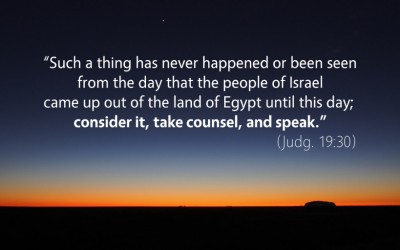 August 5th: Bible Meditation for Judges 19