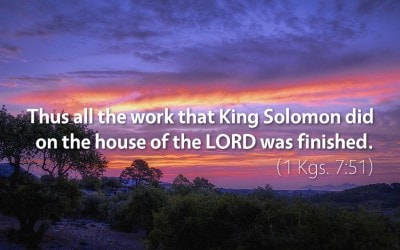 October 4th: Bible Meditation for 1 Kings 7